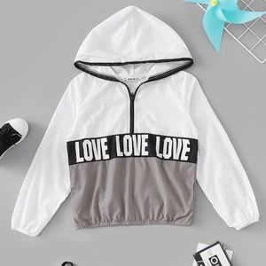 Girls LOVE Pullover Rain Jacket